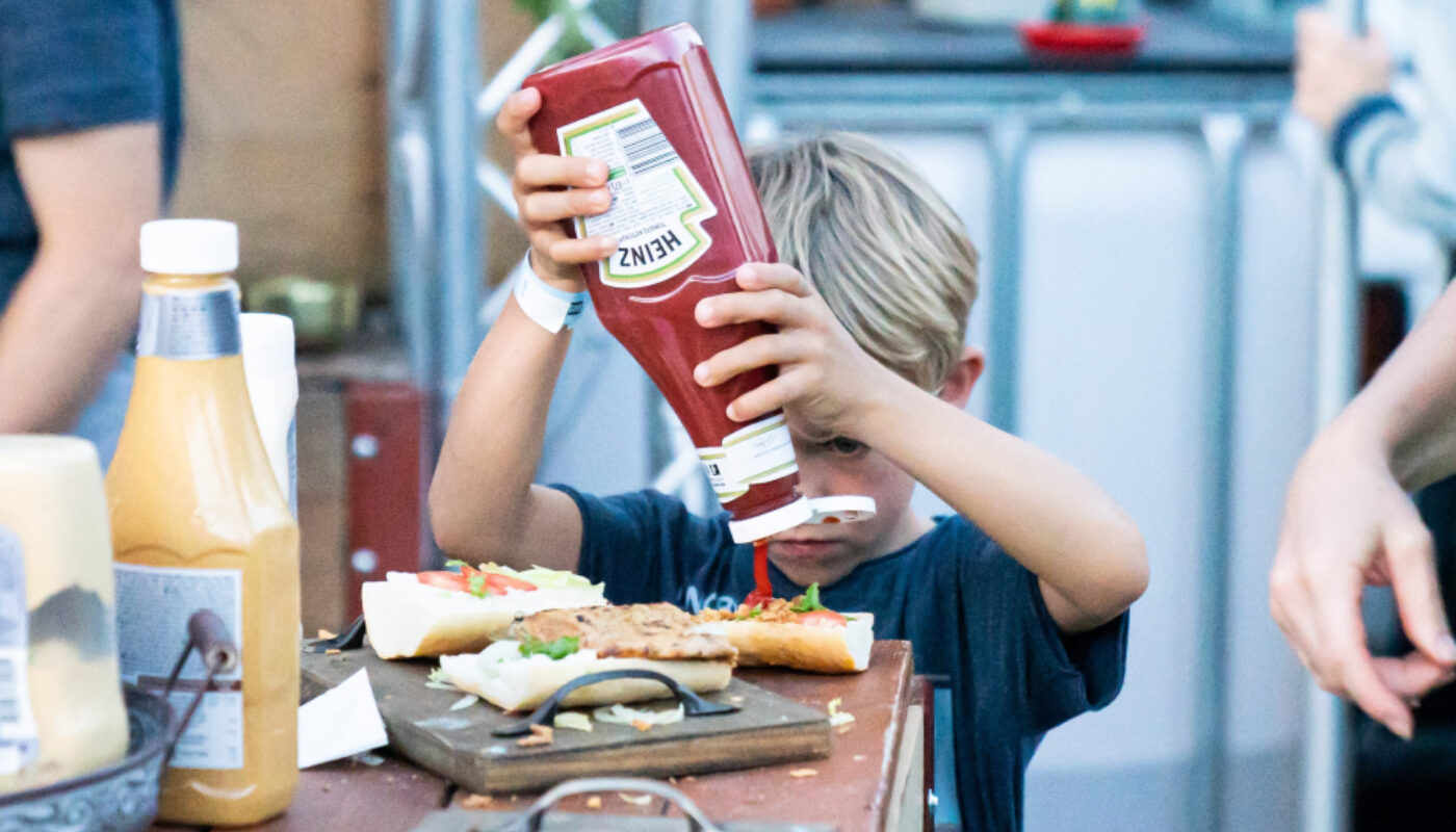 Heinz ketchup pouring